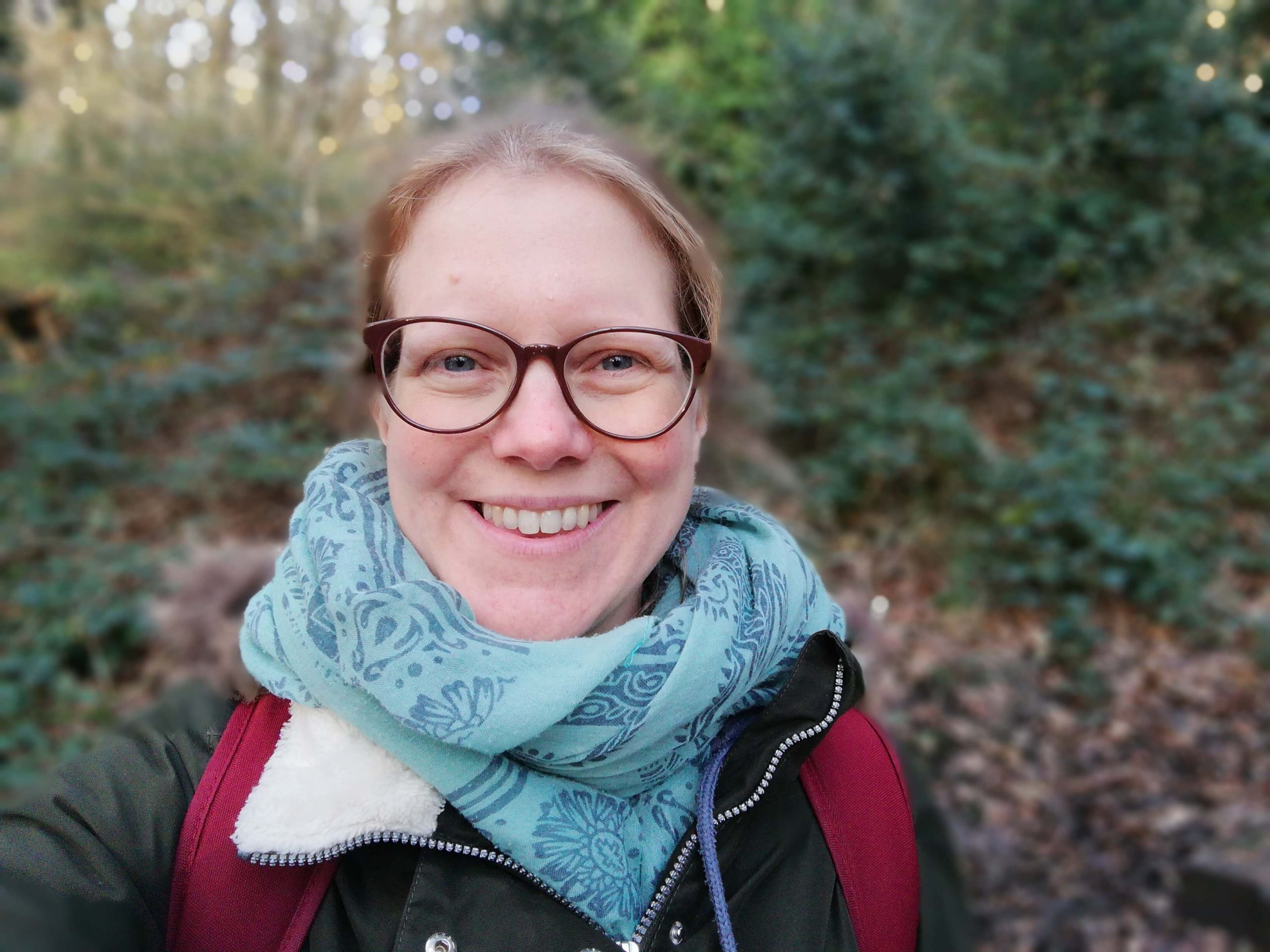 Image of Kate in the woods The Nature and Nurture Coach